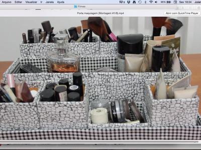 DIY Porta maquiagem (Montagem)  #1.6 ✂️ Artesanato
