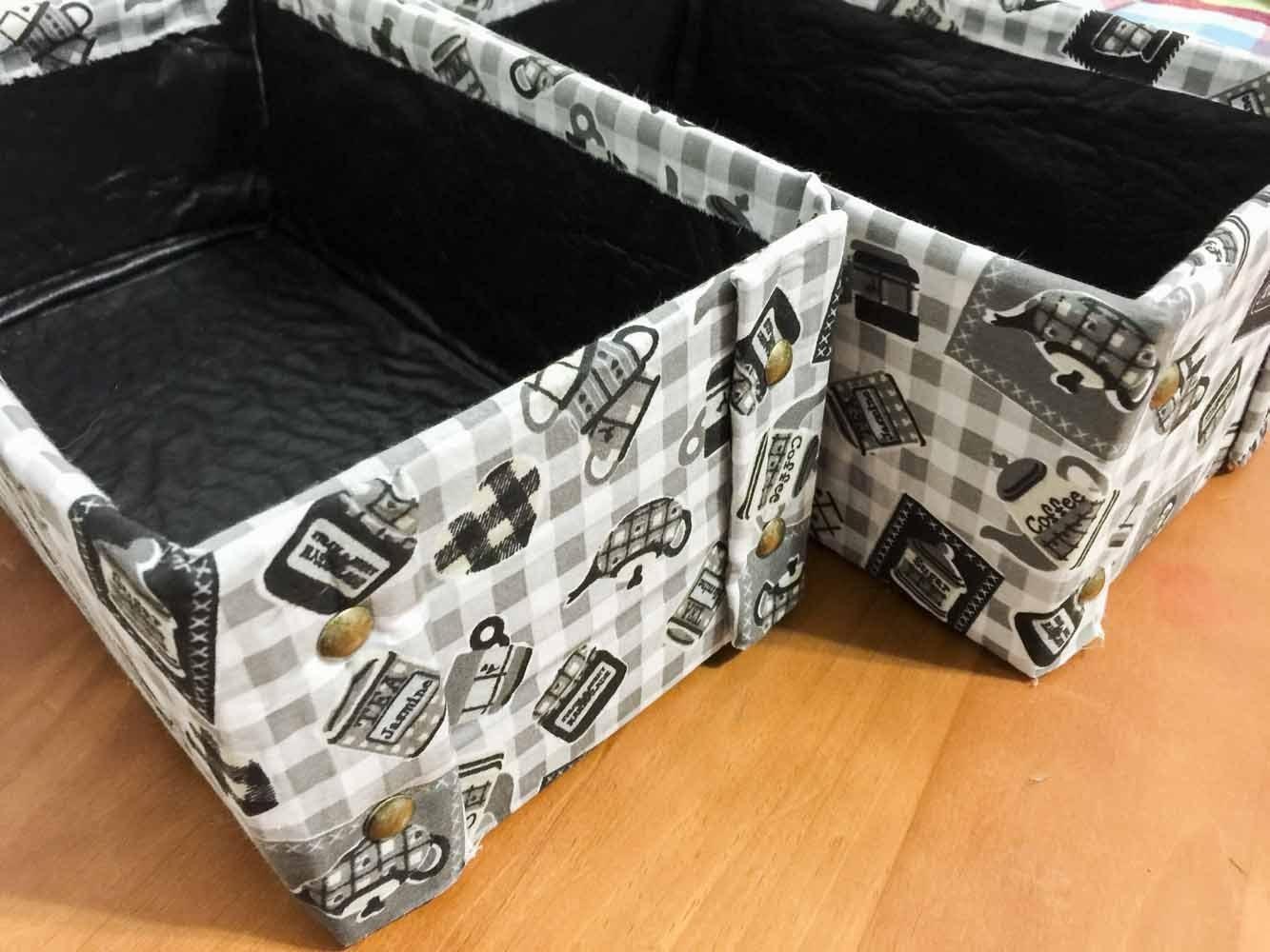 DIY Caixa organizadora prática ✂️ Artesanato