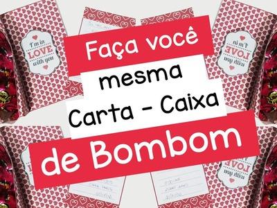DIY: CARTA - CAIXA DE BOMBOM - Blog Lolita