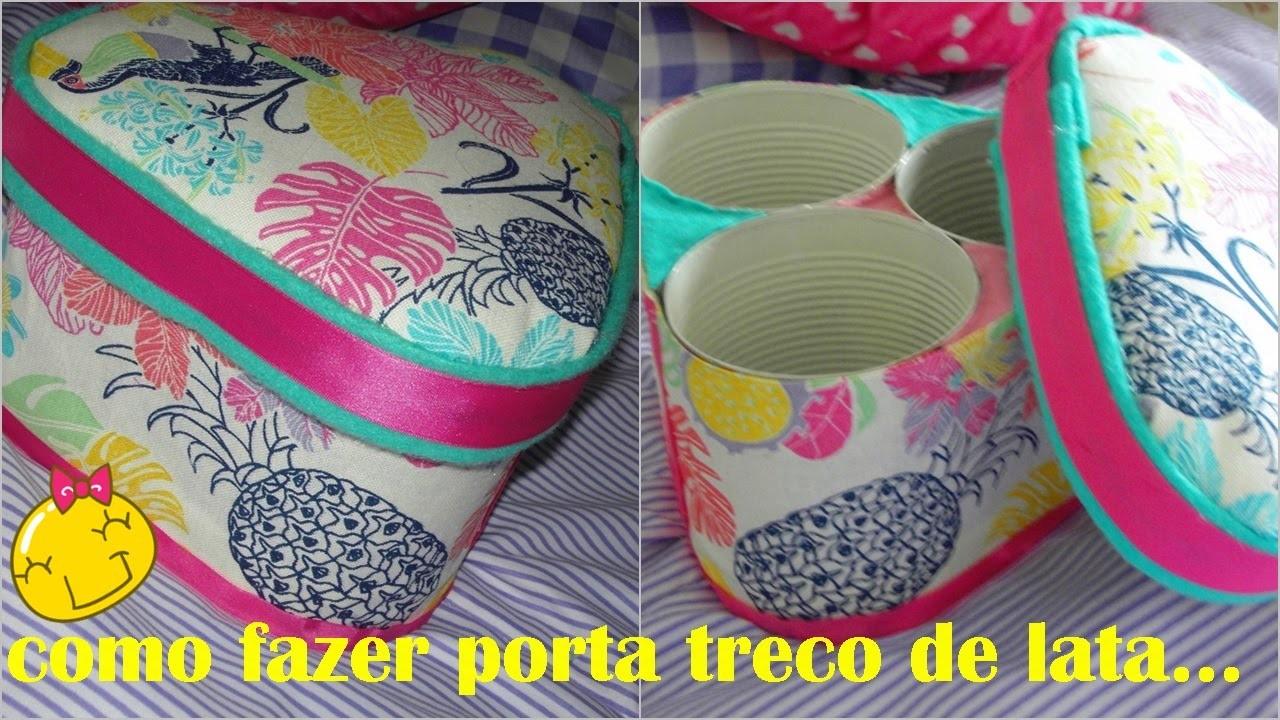 DIY COMO  FAZER PORTA  TRECO DE LATA