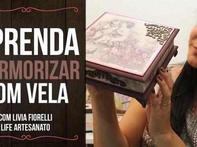 DIY | Faça Você Mesmo | Marmorizado com Vela | Livia Fiorelli | Life Artesanato