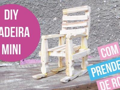 DIY CADEIRA COM PRENDEDORES DE ROUPA
