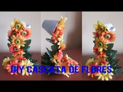 DIY CASCATA DE FLORES