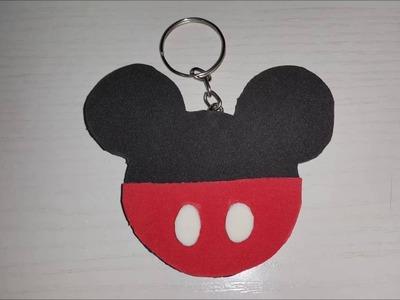 DIY Chaveiro do Mickey em e v a