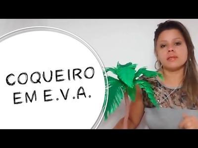 DIY - COMO FAZER UM COQUEIRO EM E.V.A. (COM E SEM FRISADOR)