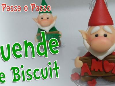 "DIY - DUENDE "" eu te desejo "" em Biscuit - Sah Passa o Passo"