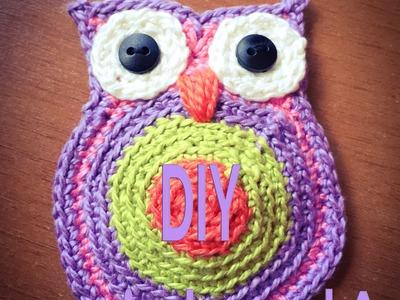 DIY - faça você mesmo uma coruja de crochê para aplicação