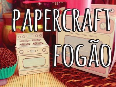 DIY - Papercraft, Caixas em forma de Fogões  - com moldes para Impressão