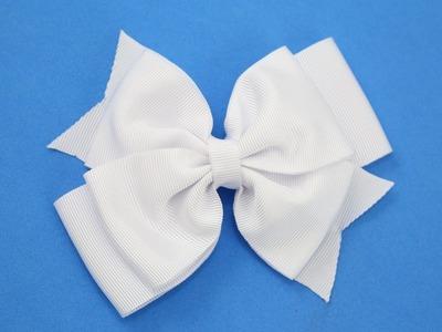 *Passo a passo: Laço de fita de gorgurão.DIY Grosgrain ribbon bow