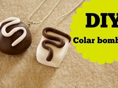 #VEDA 14 - DIY - Como fazer colar de bombons - Biscuit - Polymer clay - tutorial