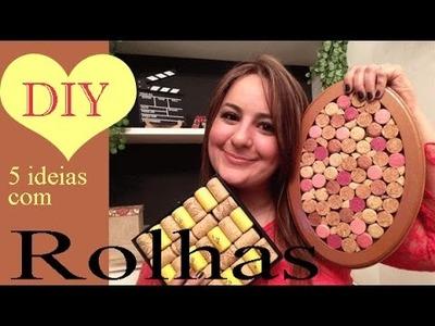 5 IDEIAS COM ROLHAS, DIY por Camila Camargo