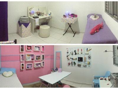 Antes e depois da reforma no Ateliê - Ideias de DIY - Recrie