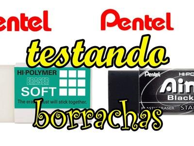 BORRACHAS HI-POLYMER DA PENTEL - TESTANDO