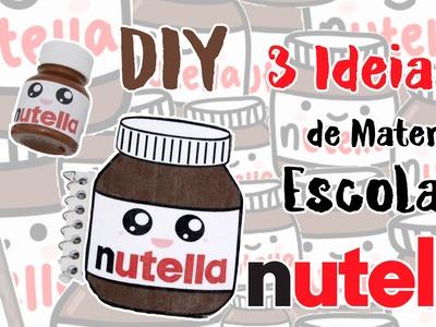DIY - 3 Ideias de Material Escolar para VOLTA AS AULAS - Kawaii