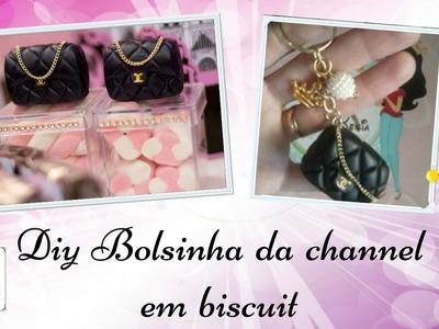 Diy Bolsinha da channel em biscuit