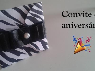 DIY: convite de aniversário | Tainá Leopoldo