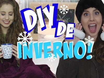 DIY de INVERNO! Aquecedor de mão, cobertor com manga e decoração! | Winter DIY