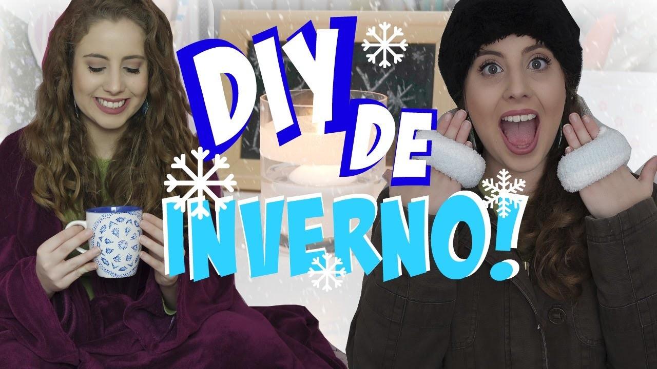 DIY de INVERNO! Aquecedor de mão, cobertor com manga e decoração!   Winter DIY