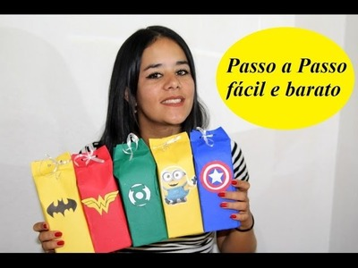 DIY Lembrançinhas infantis com caixa de leite  Raiane Ramos