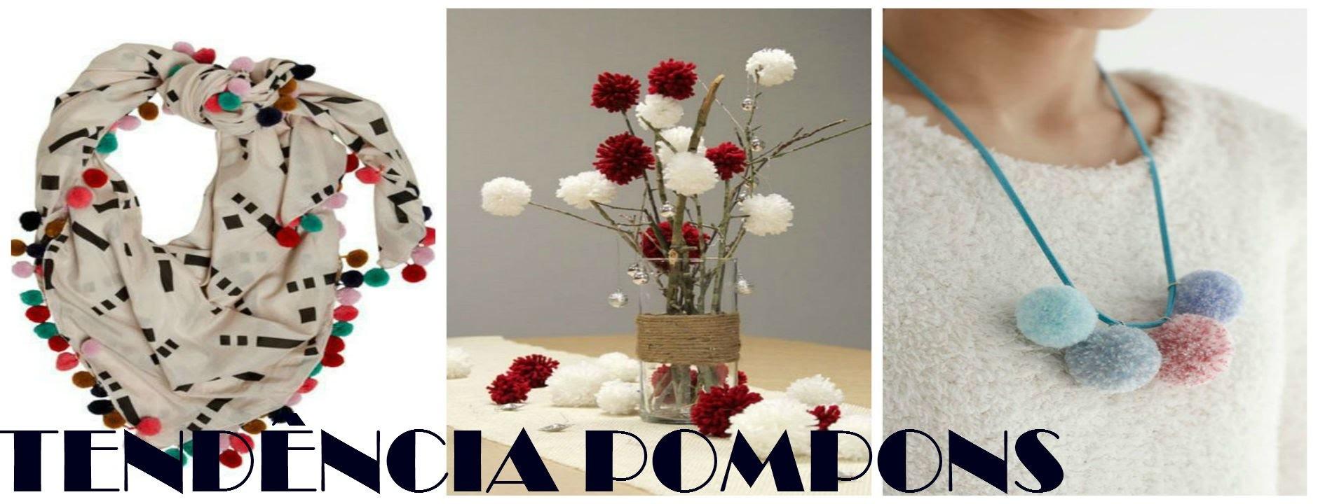 DIY - Pompons com o garfo + inspirações. f670c485859