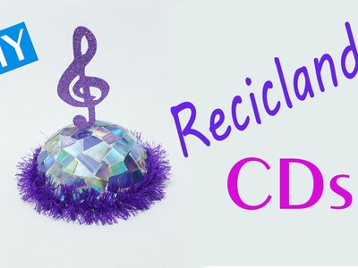 DIY Reciclando CDs velhos  Centro de mesa