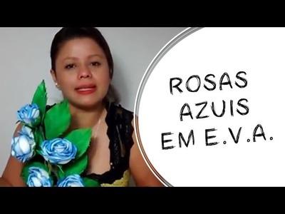DIY - ARRANJO DE ROSAS EM EVA