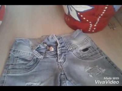 DIY:Como fazer barra em shorts a mão