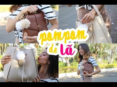 DIY | Como fazer chaveiro de pom pom com fio de lã (FÁCIL E LINDO ♥)