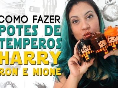 DIY: COMO FAZER PORTA TEMPEROS HARRY POTTER ❤ DIY GEEK - #GEEKTUBERS