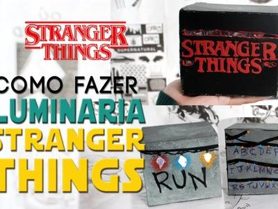 DIY: COMO FAZER UMA LUMINARIA DA SERIE STRANGER THINGS DO NETFLIX ❤ DIY GEEK