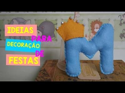 DIY: Letras em Feltro Especial chá de bebê