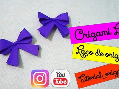 Tutorial Origami - Paper lace. Laço de papel