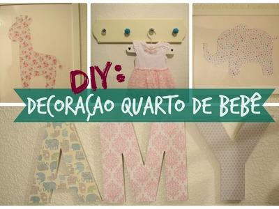 Decoração fácil e barata para quarto de bebê | DIY