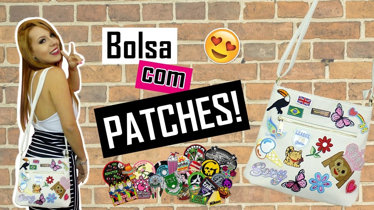 DIY - Bolsa com PATCHES