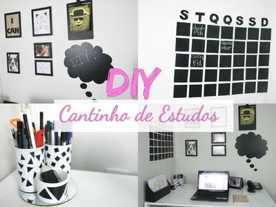 DIY Cantinho de Estudos. Mini Escritório inspirado no Tumblr | Especial volta às aulas