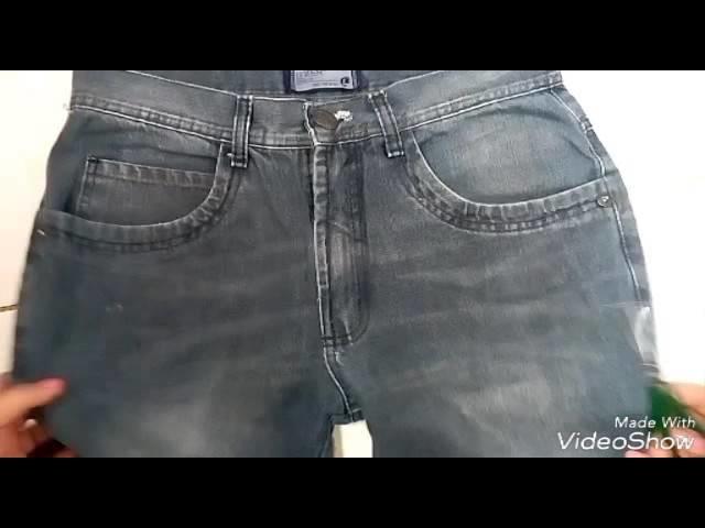 DIY: Transformando calça masculina em Short Femenino.