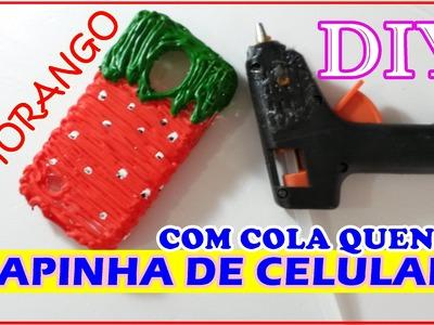 DIY CAPINHA DE CELULAR COM COLA QUENTE