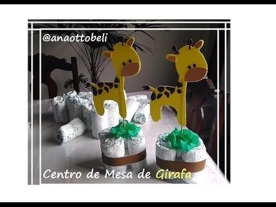 DIY: Centro de Mesa de Girafa | Chá de Bebê
