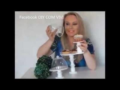DIY COM VIVI. SUPORTE  PARA DOCES COM EMBALAGENS DE YAKULT