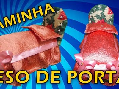 DIY- COMO FAZER CAMA PESO DE PORTA COM CAIXA DE LEITE !!!