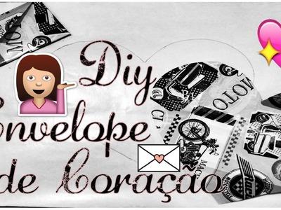 DIY Envelope de Coração. DIY Heart Envelope ♥