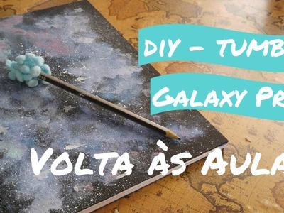 DIY | Volta às aulas CADERNO GALÁXIA ( Galaxy Print TUMBLR )