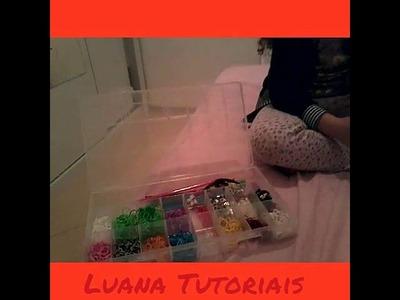 Review da minha caixa de elásticos Rainbow Loom ft Lola Veiga