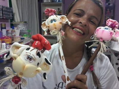 DIY- COLHER DE PAU DA VAQUINHA EM BISCUIT