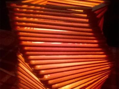 DIY: Como fazer Luminária de Palito de Picolé - Como fazer um Abajur de Palito de Picolé