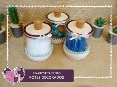 DIY - COMO REAPROVEITAR POTINHOS DE VIDRO - Antoniel Santoss
