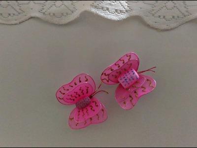 Imã de borboleta - meia de seda DIY