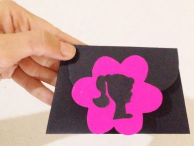 Como Fazer Convite de Aniversário Personalizado da Barbie - DIY Artesanatos