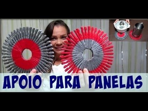 DIY | APOIO PARA  PANELAS | LETICICA  ARTES