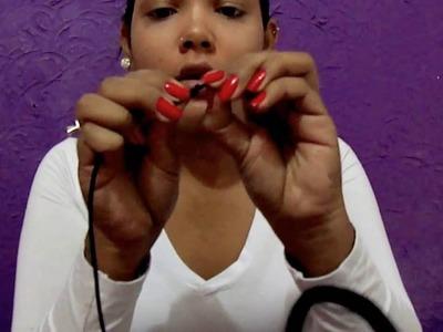 DIY - Aprenda a fazer colar choker com couro !